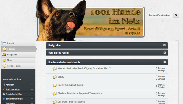 1001 Hunde im Netz - Beschäftigung, Sport, Arbeit & Spass